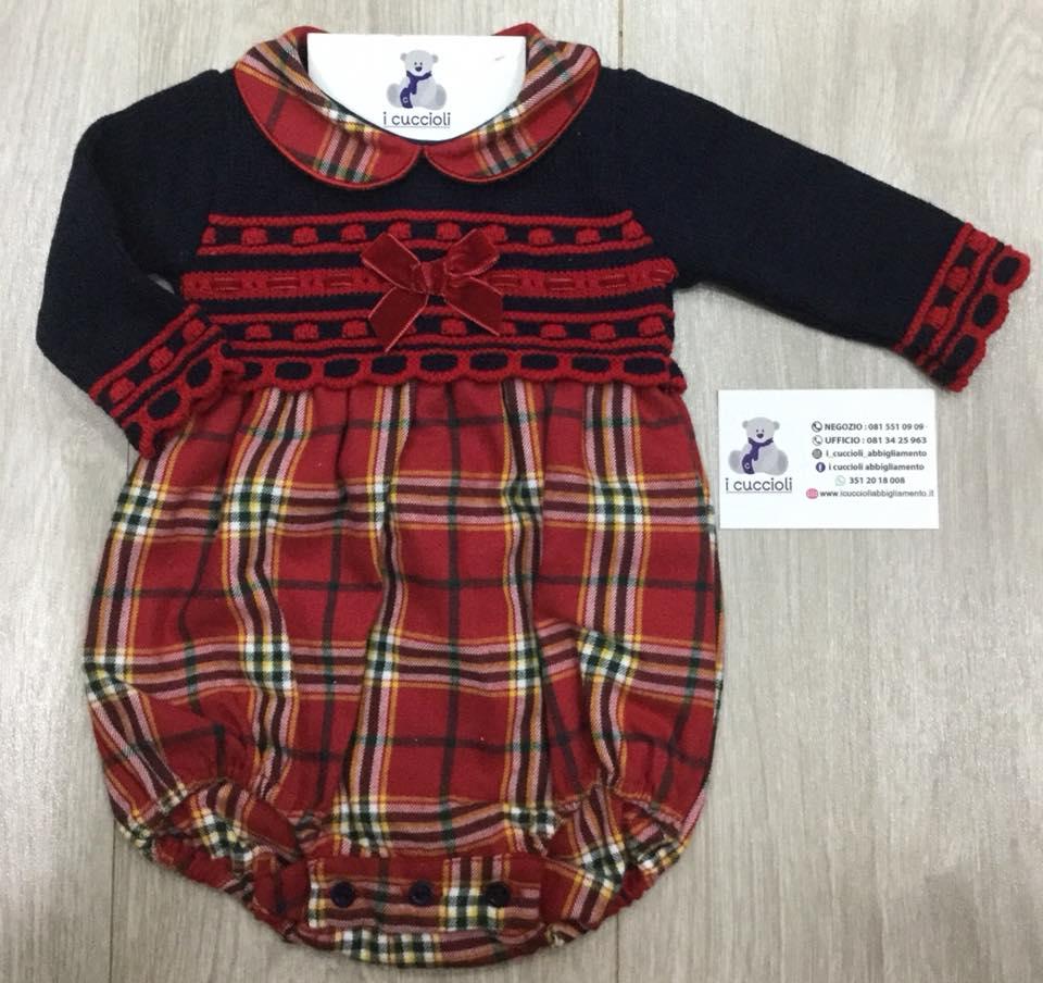 davvero comodo prezzo ufficiale moda di vendita caldo Pagliaccetto scozzese - Shop online I Cuccioli Abbigliamento