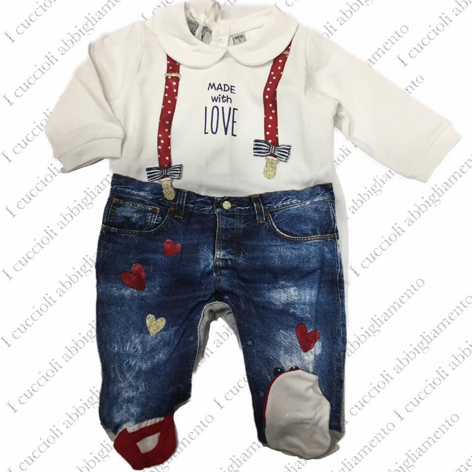 adatto a uomini/donne in arrivo di modo attraente Melby Tutina con effetto finto jeans con bretelle - Shop ...