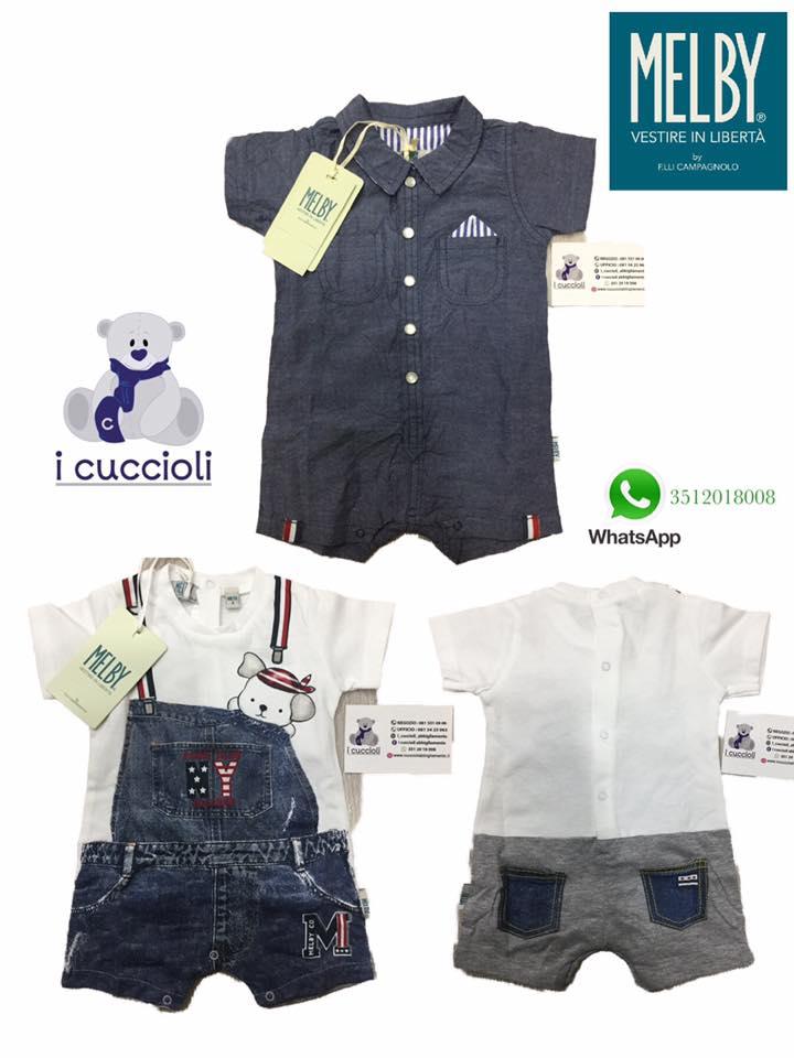 4e837227c8 Melby Pagliaccetto effetto finta salopette in jeans - Shop online I  Cuccioli Abbigliamento